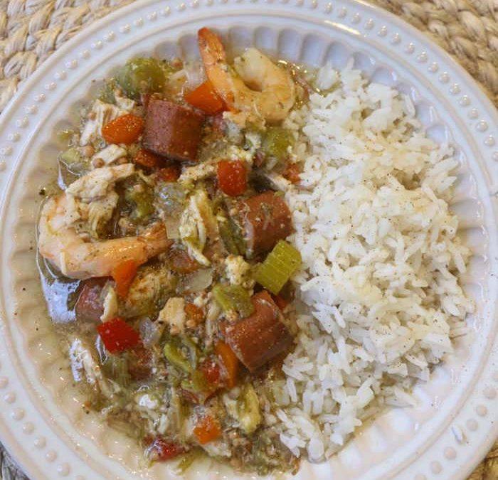 Instant Pot Chicken, Sausage & Shrimp Gumbo Recipe