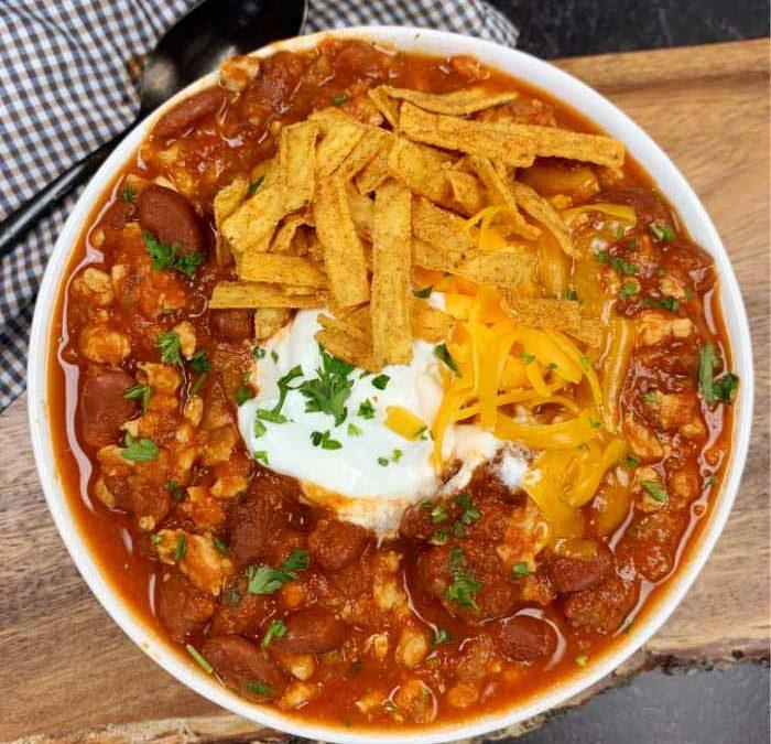 Instant pot Ground Turkey Taco Chili Recipe