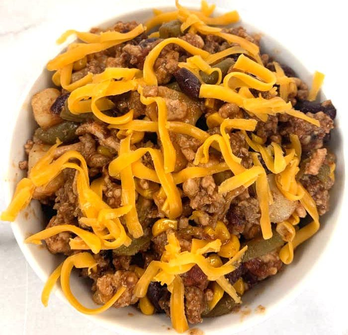 Instant Pot Ground Turkey Cowboy Dinner