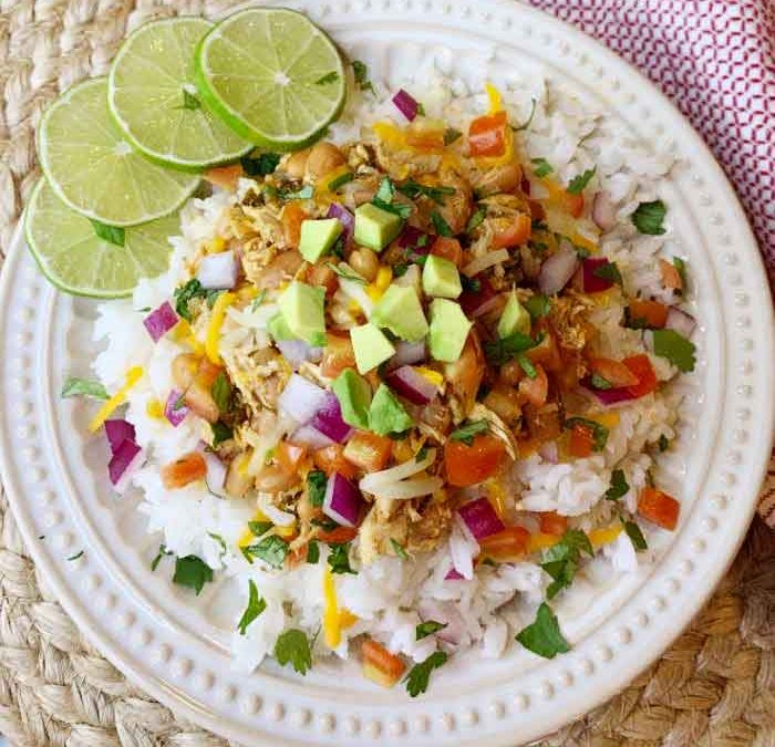 Instant Pot Cilantro Lime Chicken and Rice Bowls