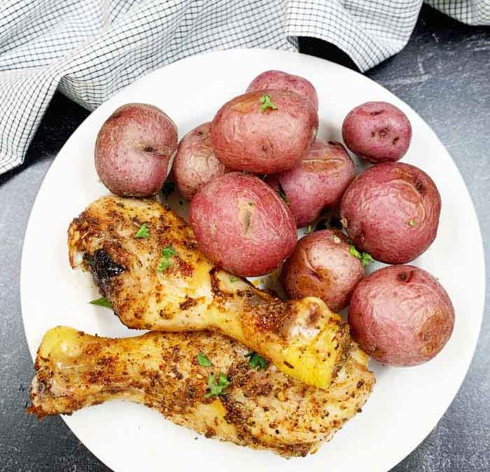 Crock Pot Italian Drumsticks with Red Potatoes