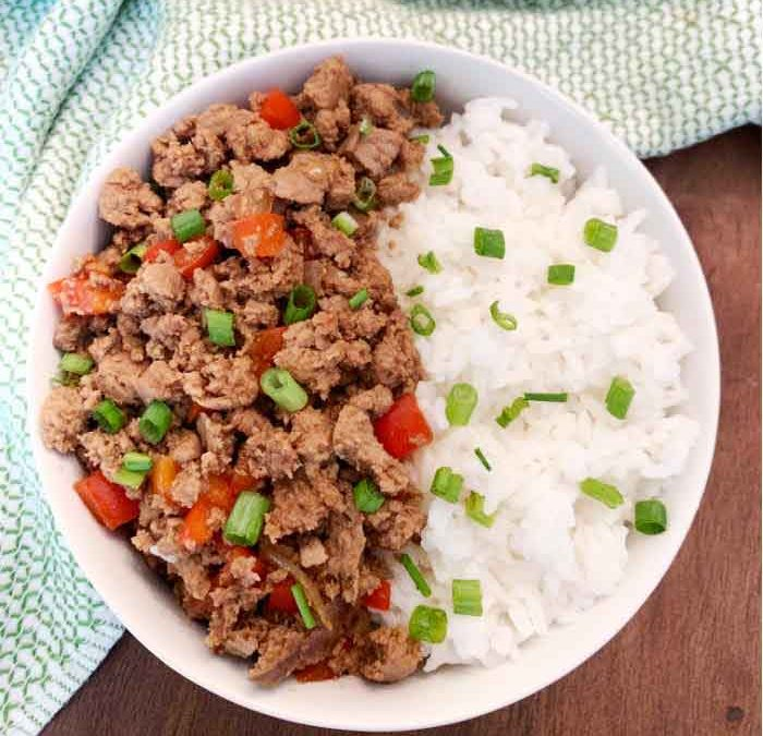 Instant Pot Mongolian Turkey and Rice Bowls