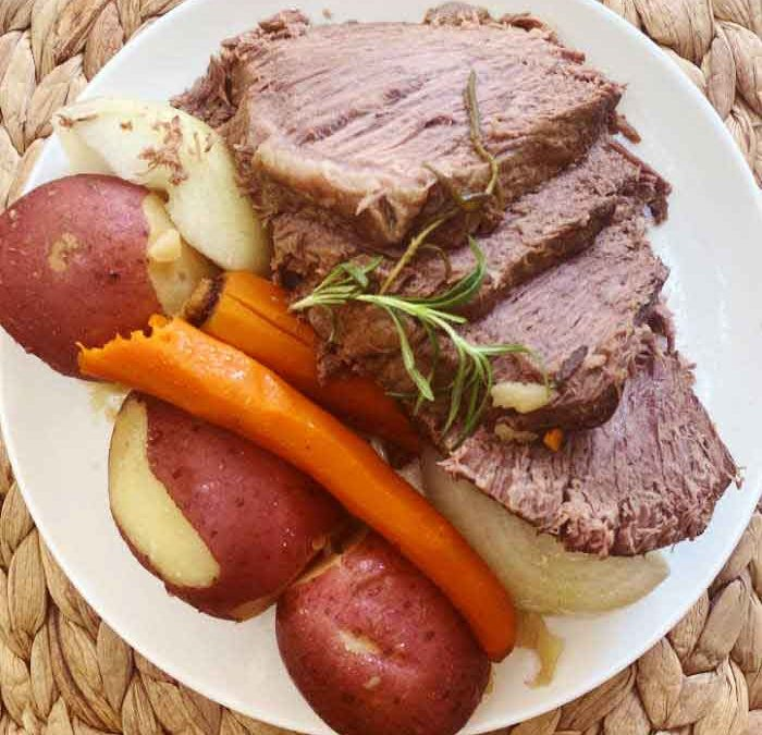 Instant Pot Rosemary Beef Roast Dinner