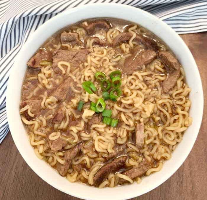 Instant Pot Steak and Ramen Soup