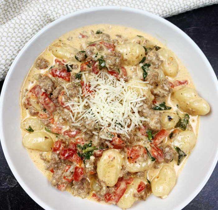 Instant Pot Tuscan Sausage Gnocchi Recipe