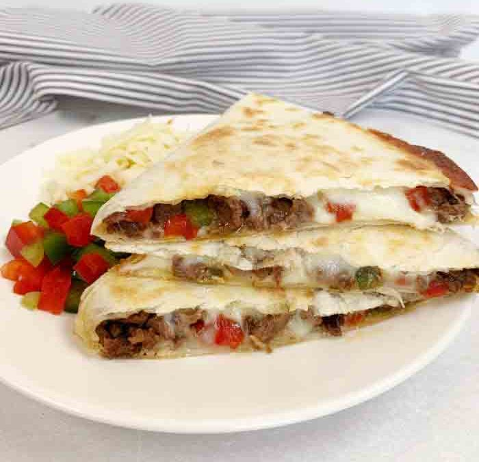 Instant pot Philly Cheesesteak Quesadillas