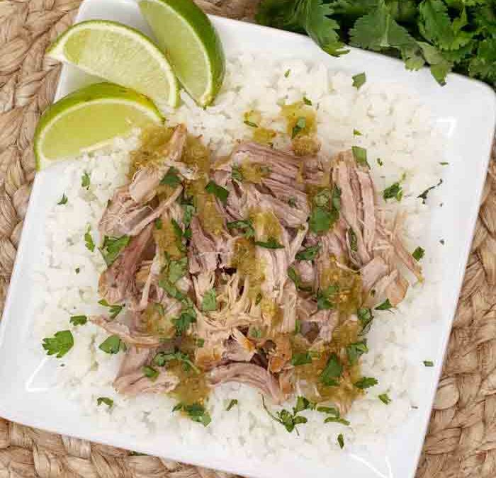 Crock Pot Salsa Verde Shredded Pork