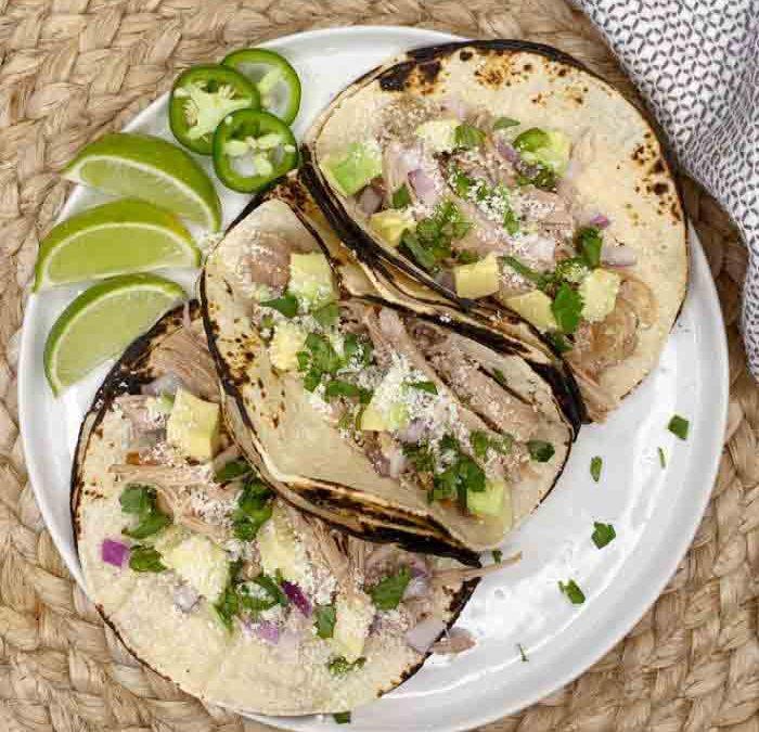 Instant Pot Salsa Verde Pork Tacos