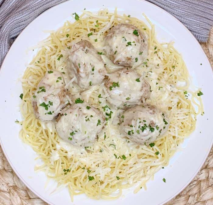 Instant Pot Garlic Parmesan Turkey Meatballs