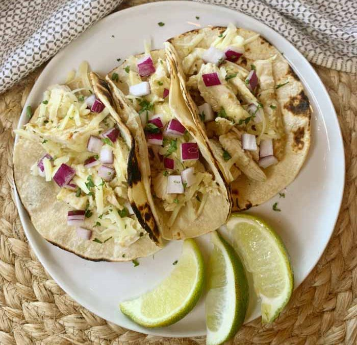 Crock Pot Salsa Verde Chicken Tacos