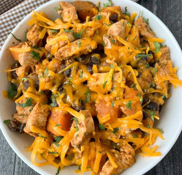 Instant Pot Mexican Chicken Sweet Potato Hash