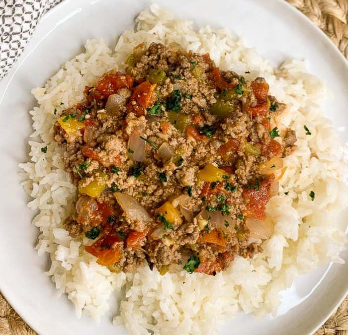 Instant Pot Green Chile Ground Beef Recipe