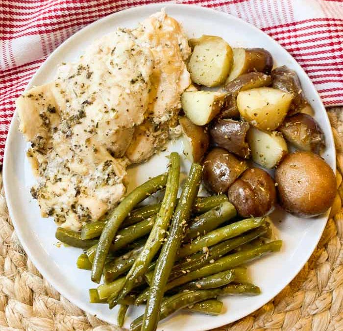 Instant Pot Italian Lemon Chicken Dinner