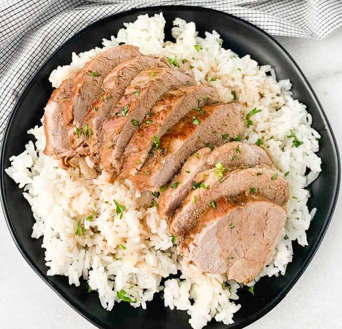 Instant Pot Soy Balsamic Pork Tenderloin