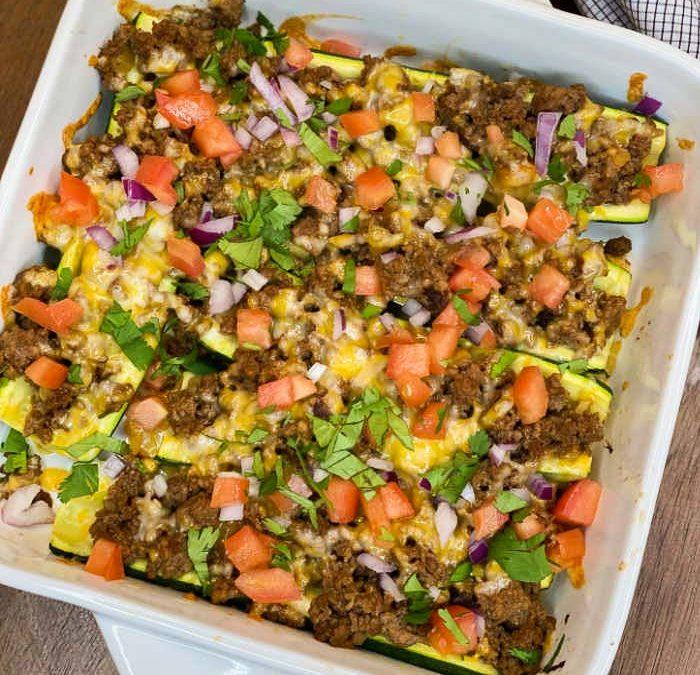 Crock Pot Taco Zucchini Boats