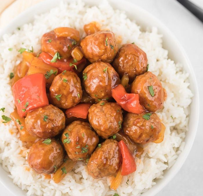 Instant Pot Citrus Sweet and Sour Meatballs