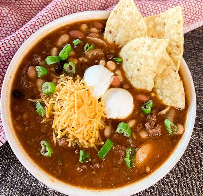 Crock Pot 15 Bean Taco Soup