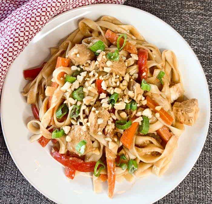 Crock pot Chicken Pad Thai