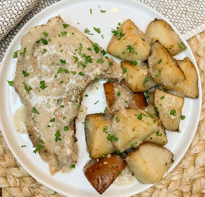 Crock Pot Creamy Dijon Pork Chops