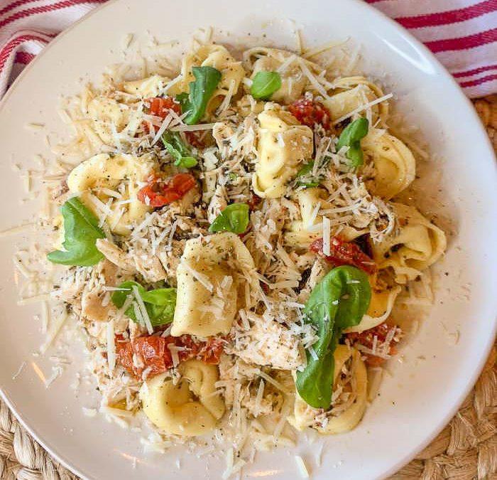 Crock Pot Pesto Chicken Tortellini Recipe