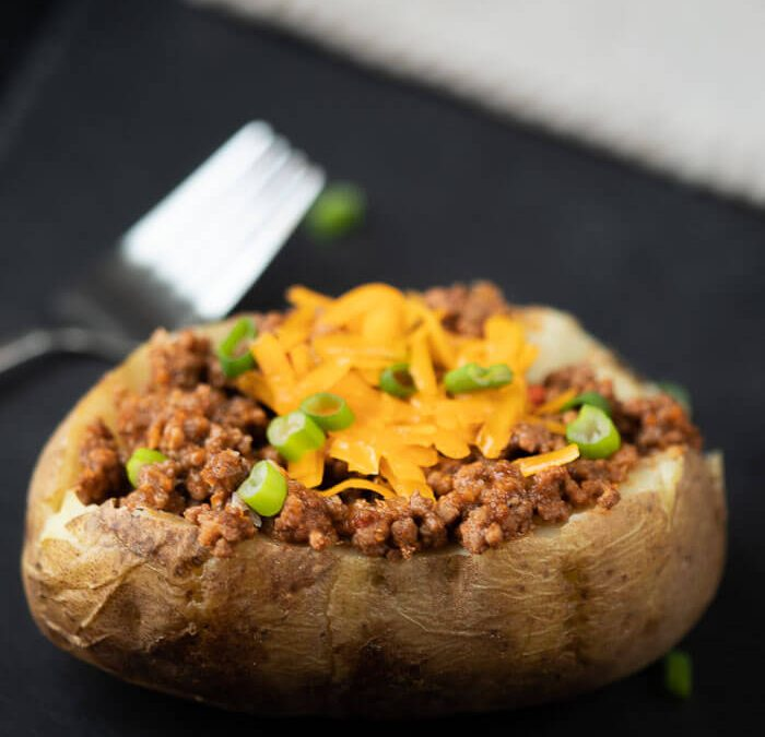 Crock Pot BBQ Stuffed Baked Potatoes