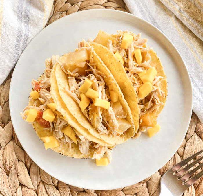 Crock Pot Pineapple Mango Chicken Tacos