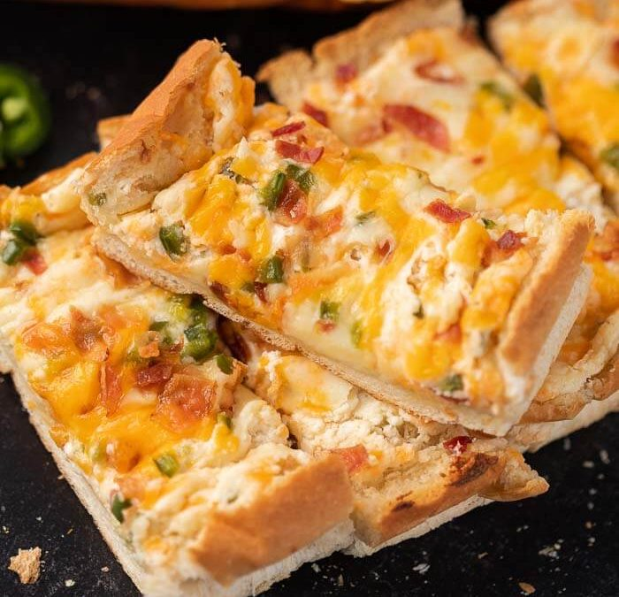 Jalapeno Popper Stuffed Cheesy Bread