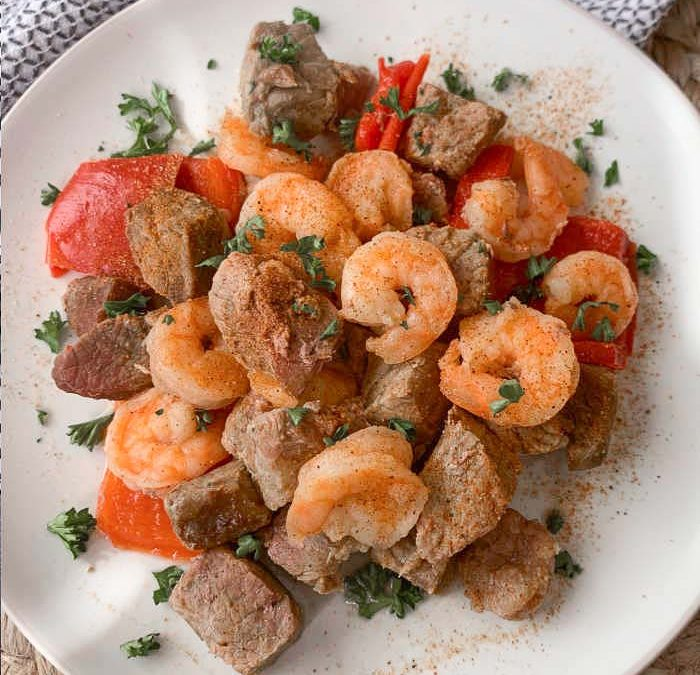 Instant Pot Cajun Steak Bites with Shrimp