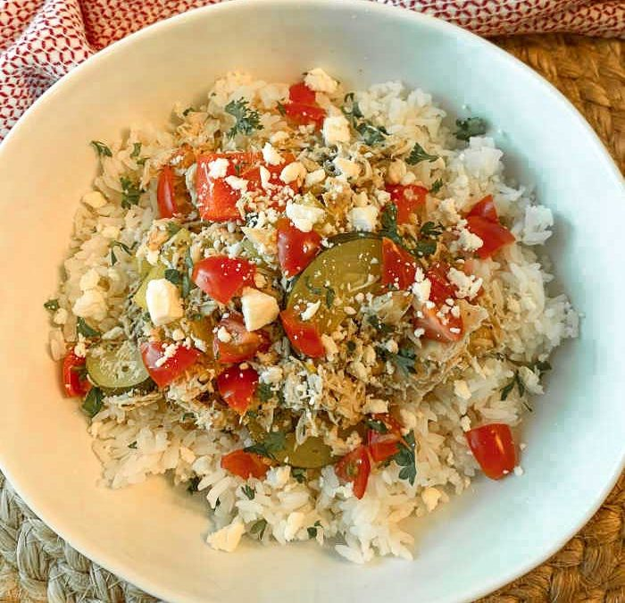 Crock pot Greek Chicken Bowl