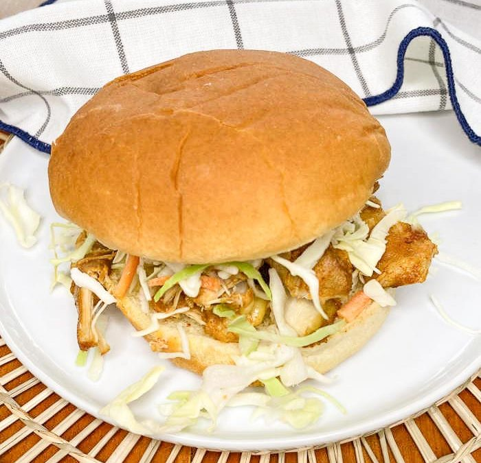 Instant Pot Sour and Sweet Chicken Sandwiches