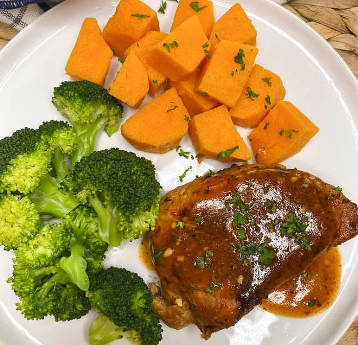 Instant Pot Pork Chop Dinner with Sweet Potatoes
