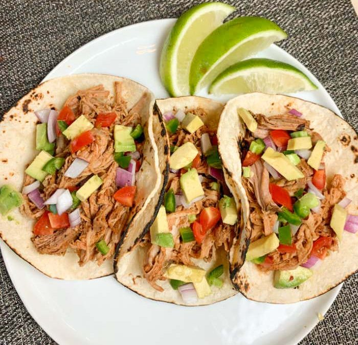 Instant pot Salsa Pork Tacos