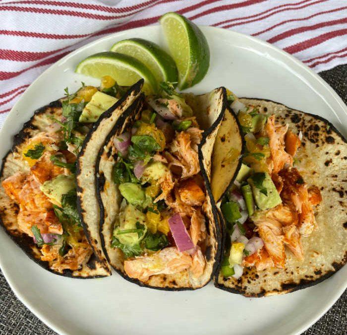 Instant pot Citrus Salsa Salmon Tacos