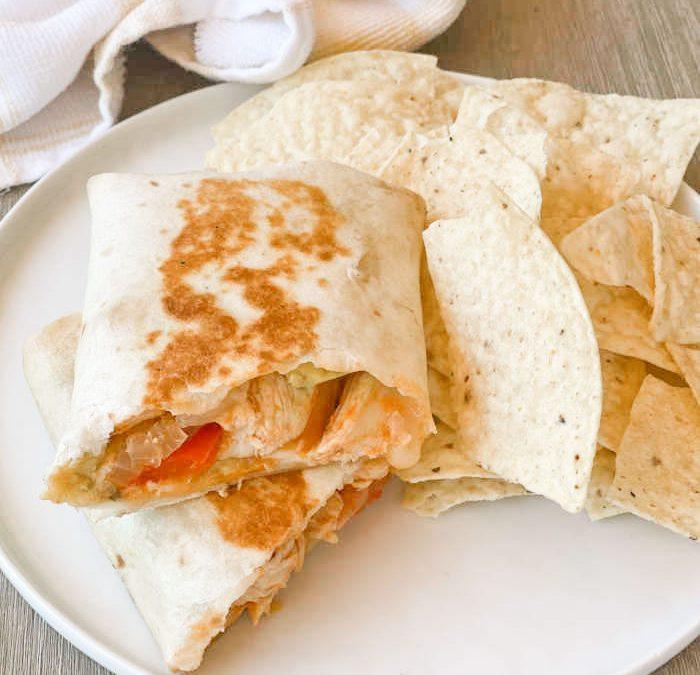 Instant pot Crispy Chicken Fajita Wraps