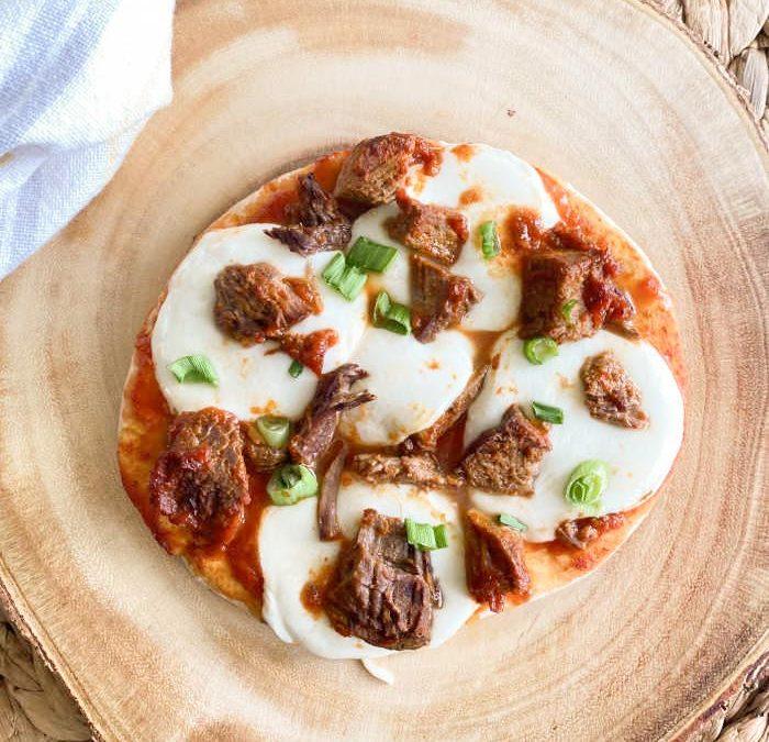 Instant Pot Italian Steak Pita Pizza