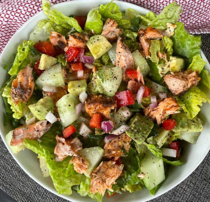 Instant pot Salmon Chopped Salad