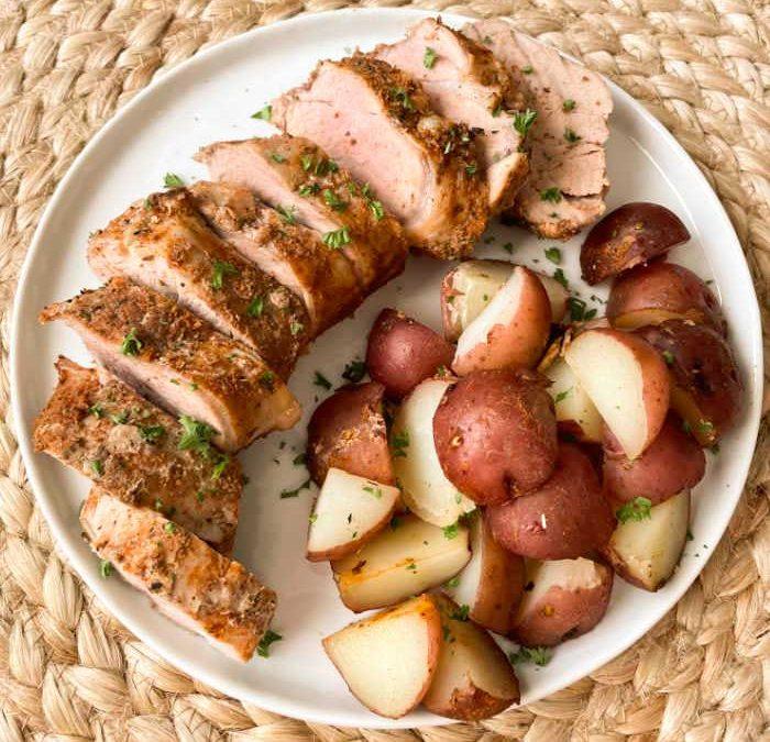 Crock Pot Smokey Pork with Red Potatoes