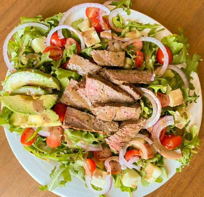 Instant Pot Creamy Balsamic Steak Salad (WITH GRILLING INSTRUCTIONS!)