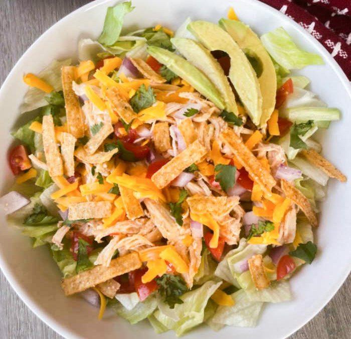 Instant Pot Chicken Taco Salad Recipe