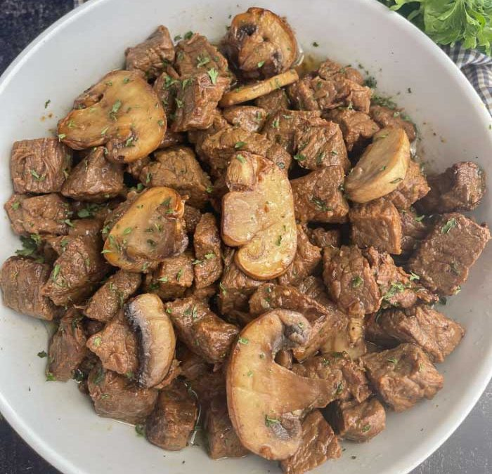 Instant Pot Garlic Butter Steak with Mushrooms