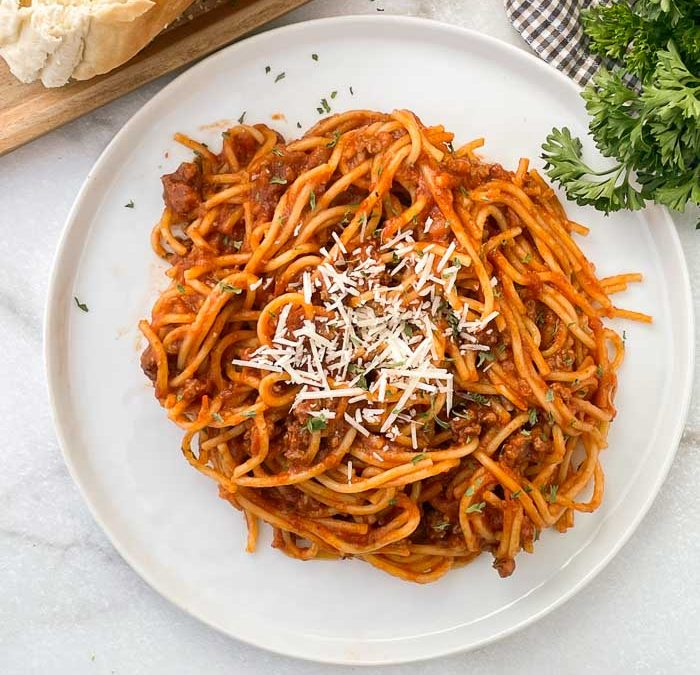 Instant Pot Easy Spaghetti with Meat Sauce