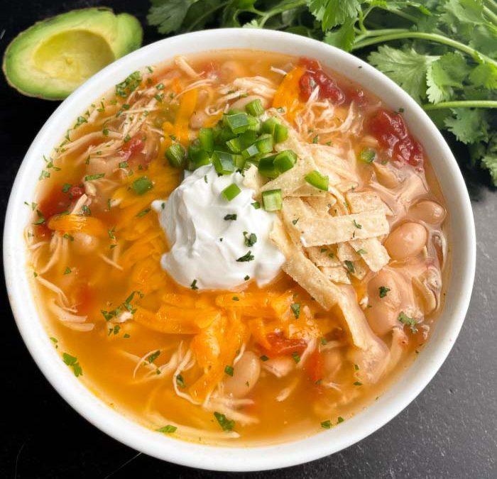 Instant Pot Poblano Chicken Soup Recipe
