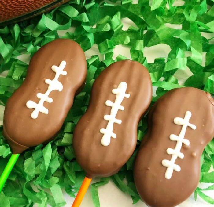 Football Cookie Pops