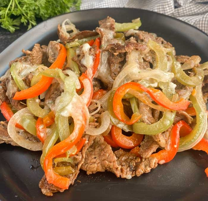 Instant Pot Low Carb Philly Cheese Steak Dinner